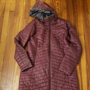 Orvis Womens Maroon Micro Puffer Parka Jacket Size